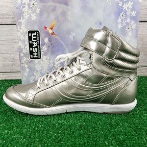 NEW CL edwina Silver Lace up Fashion Sneaker shoe…